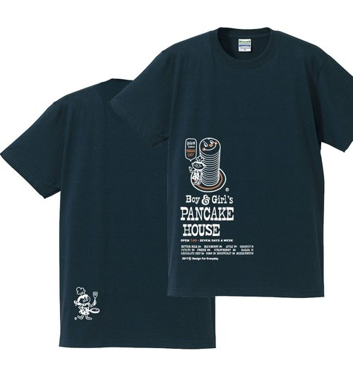 Boy & Girl's pancake 150.160 (female ML) S ~ XL T-shirt 【Custom order】