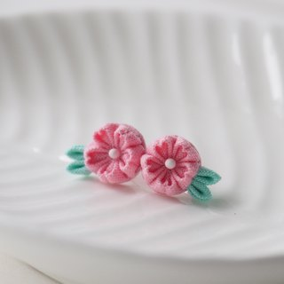 Light Hot Pink Cherry Blossom Sakura stud Earrings Clip-on 14KGF, S925 custom