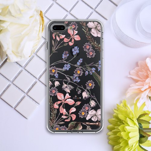 Flora【Larkspur Garden】Onor Crystals Phone Case-Original mobile phone case for iPhone 7 / iPhone 7 Plus