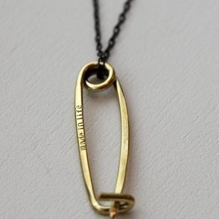 Brass necklace safety pin