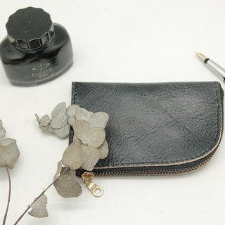Rejection flower gray series -L Credit Card Purse