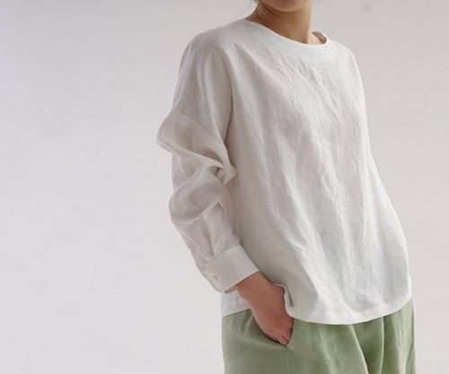 linen / shirts / long sleeve / drop shoulder / loose fitted / relaxed / a8-21
