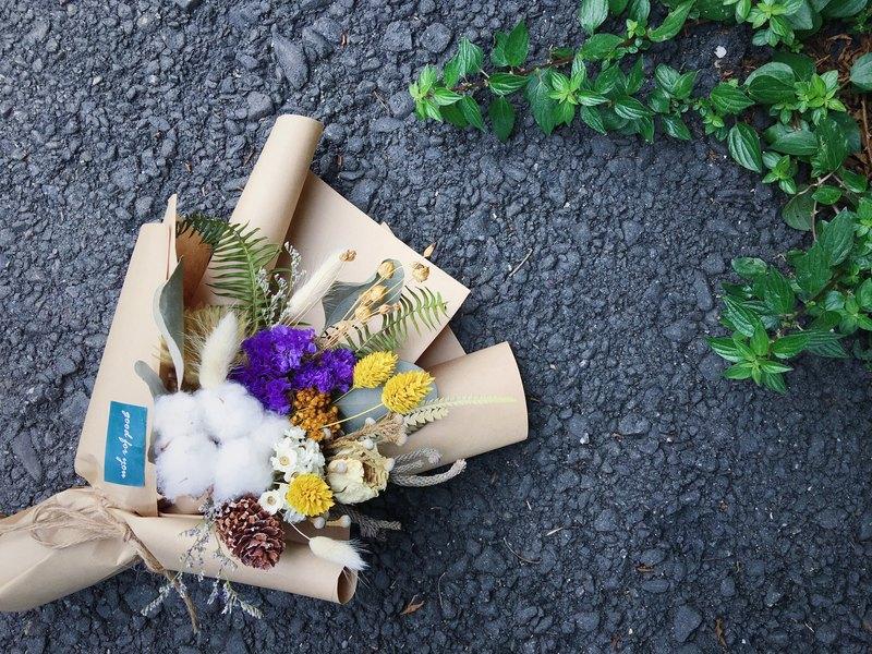 Good] dried flower bouquet of fresh flower bouquets Cotton Star ...