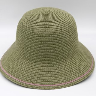 [Paper cloth home] two-color fisherman hat (military green) paper weave