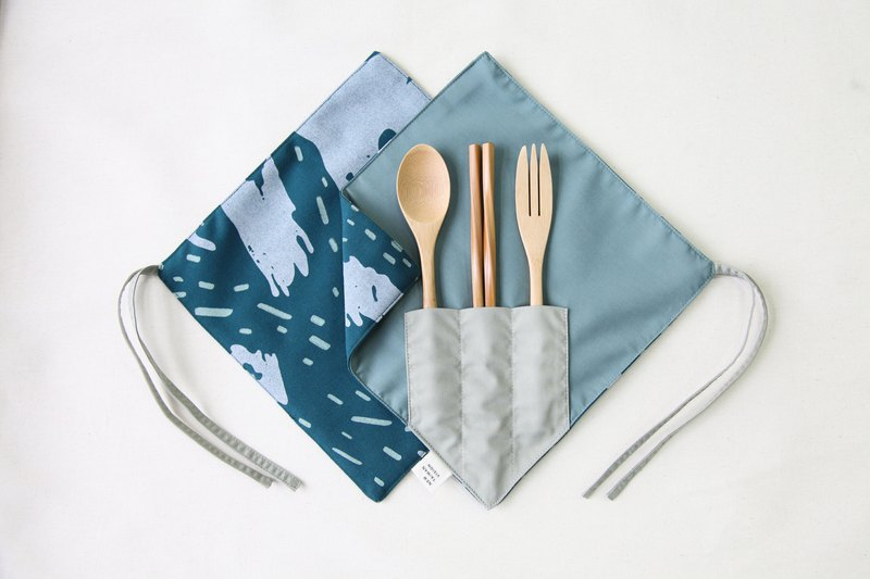 [One Corner Chopstick Set]-Seashore Blue