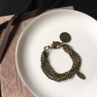 SAMEDi - Real Coin Twist Bracelet - Bronze