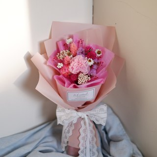 To Be Continued | Mother's Day Limited Pink Series Carnation Dry Flower Eternal Flower Romantic Korean Bouquet (Underset Carnation Edition)