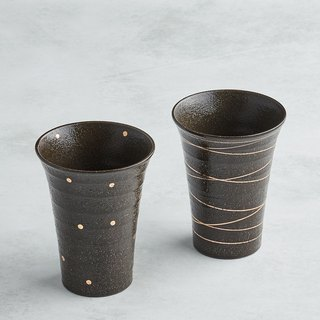 There is a kind of creativity - Japan Meinong - Hand-painted hot shochu pottery cup set (2 pieces)