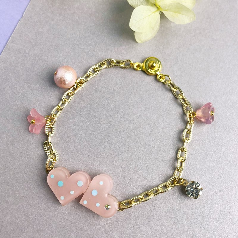 For Your Valentine - My Heart in Your Heart Bracelet