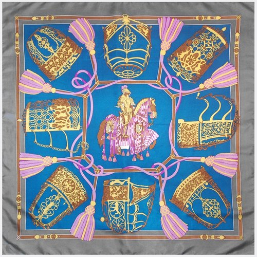 Gray box blue stream Su Huali classical palace antique scarves AT0022