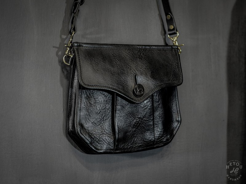 The Huntsman Bag Huntsman Bag-Full Leather Black