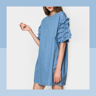 Denim shirt sleeve color medium