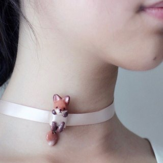 Fox Necklace  Choker