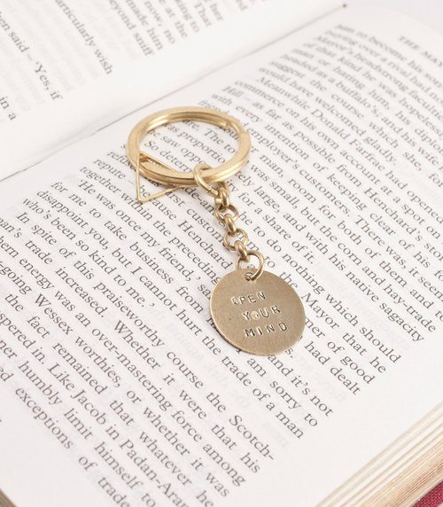 ❈La Don Radon ❈ - Brass Straps / key ring - round - Customized Qiaozi