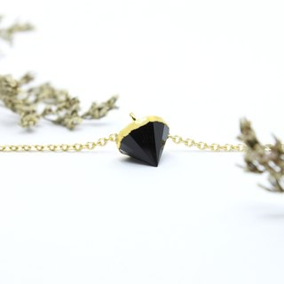 3: am Story - Obsidian Brass Necklace