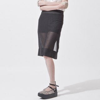 女透明裙短褲 SHORT PANTS INTERGRATE WITH SHEER SKIRT