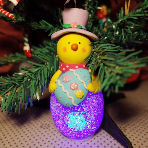 Yellow snowman decorations / Charm