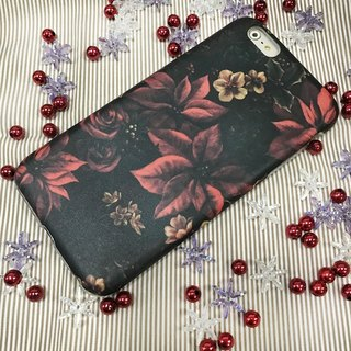 Christmas Flower iPhone case, X'mas Flower iPhone cover, 2 in 1 phone case, 3D Full Wrap Phone Case