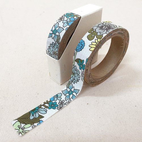 Cloth tape - Spring Floral flower bloom green [Lake]