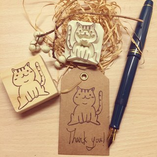 Fat cat eraser stamp*handmade*rubber stamp*handmade stamp*hand carved