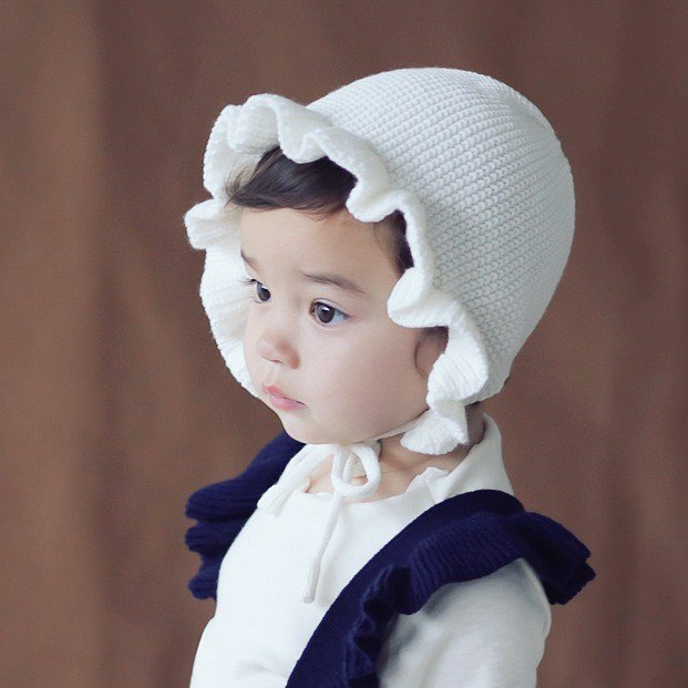 Happy Prince Rosen Lace Baby Girl Knitted Hat Made in Korea