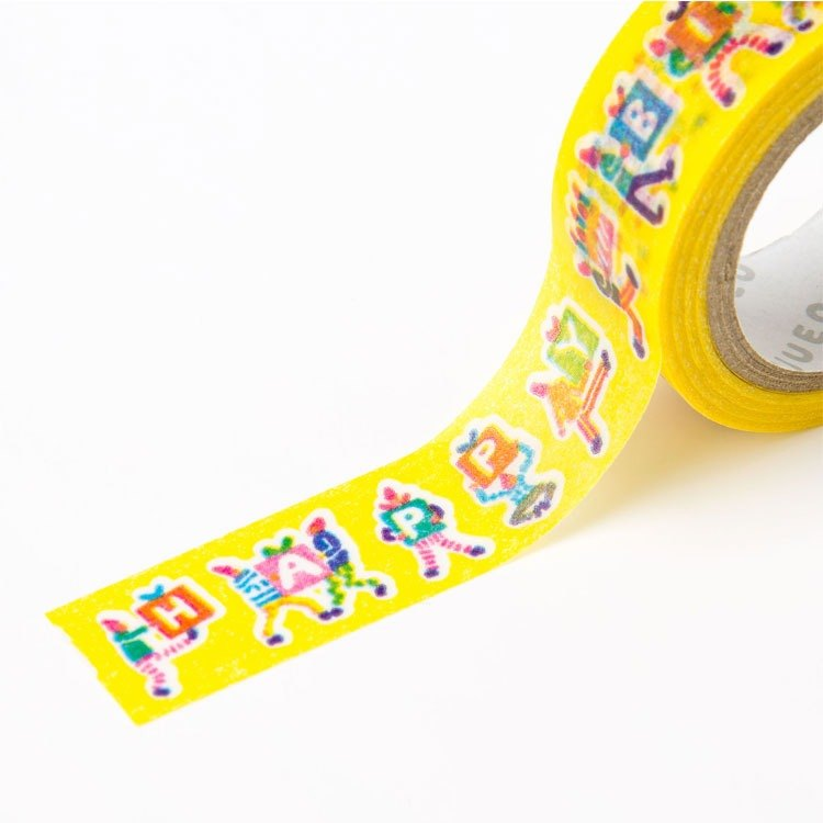 Japanese illustration paper tape-birthday party