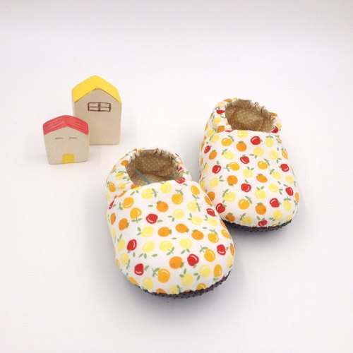 HBS handmade doll shoes - pear orange apple