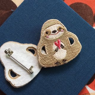 Cloth Embroidered Needle Big Sloth Series Sloth to you my love (single)