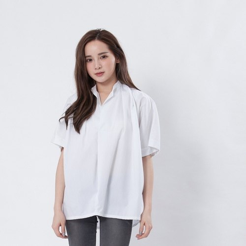 Manda wide top / white stripe