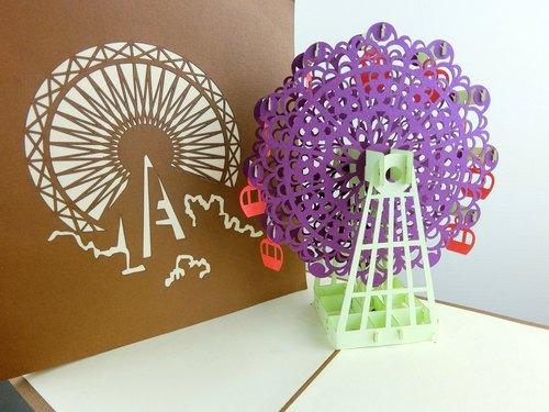 3D stereoscopic card Ferris wheel