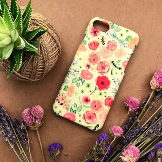 Retro Yellow Floral. Matte Case( iPhone, HTC, Samsung, Sony, LG, OPPO)