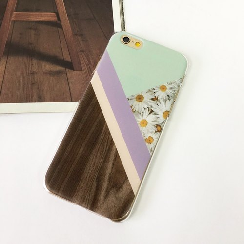 Wood and the flower Macaron Color - 11 Print Soft / Hard Case foriPhone 7 case, iPhone 7 Plus case, iPhone 6/6S, iPhone 6/6S Plus, Samsung Galaxy Note 7 case, Note 5 case, S7 Edge case, S7 case