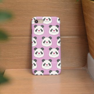 iphone case panda on pastel pink for iphone 6, 7, 8, iphone xs , iphone xs max