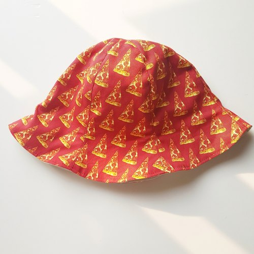 [Get Yourself A Pizza] Handmade Bucket Hat | Double sided