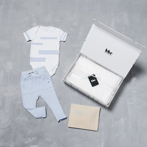 【Playground/Blue】baby baby cool - Special kit-B / 100% Organic Cotton