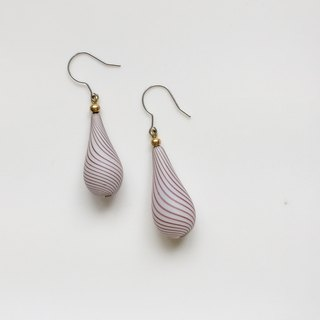 Ultra Violet bubble glass ball earrings only one pair