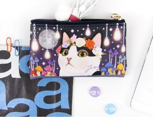 Jetoy, sweet cat card Purse _Secret night (J1605110)