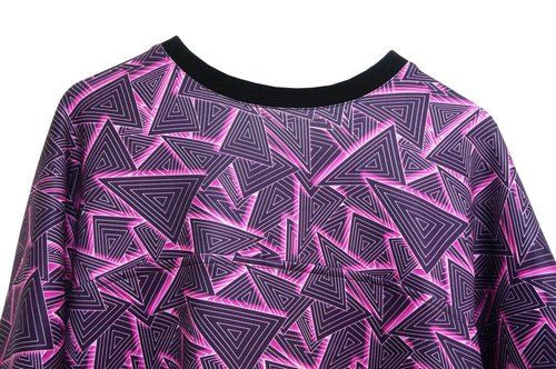 SEVEN CRASH: SS16 Geometric Print Long Tee