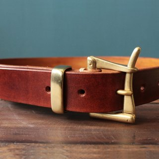 Vintage Firemen quick release belt handmade leather vegetable tanned leather color optional work style brass buckle