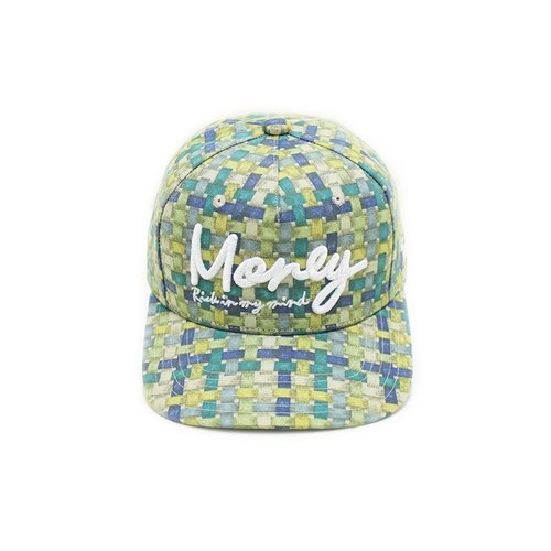 Retro Plaid 2016S retro plaid baseball cap flat - Blue