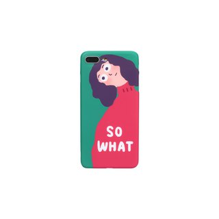 A look of original design creative cartoon funny girl personality iphone8 Apple x7plus lanyard phone shell