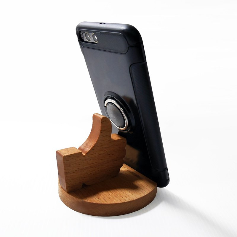 Super awesome non-stop mobile phone holder mobile phone holder business card holder solid wood