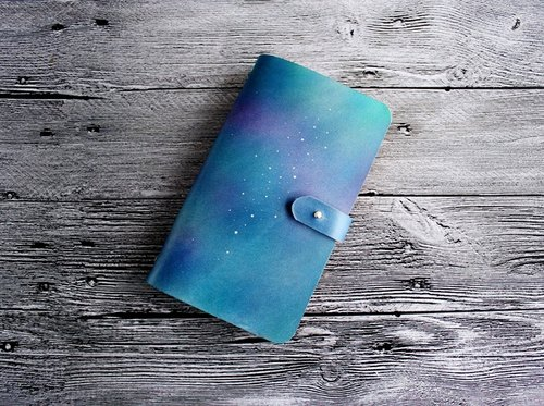 Send girlfriends to send sisters such as Wei Star Series first layer of vegetable tanned leather A6 loose-leaf notebook hand-leather notebook free lettering