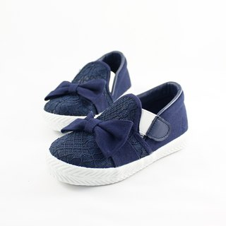 Parent-child shoes lace devil felt children's casual shoes - dark blue