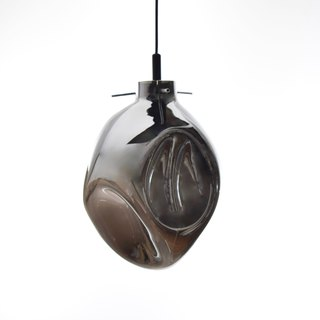 Hand blown silver plated glass pendant lamp -BNL00115