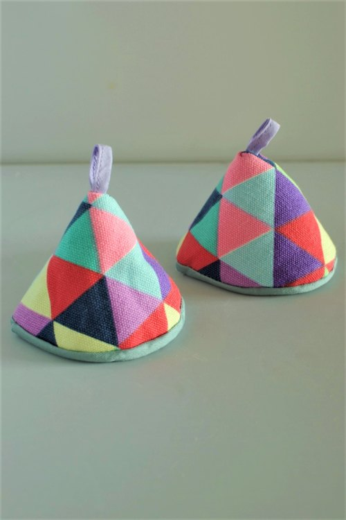 Pot Hat (Colorful Triangles)