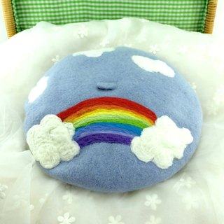 Original handmade wool felt hats Rainbow Painter