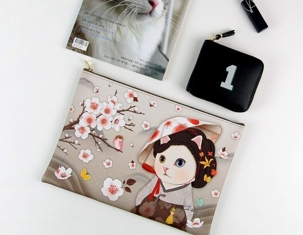 JETOY, sweet cat Clutch L_Myeong wol J1610503