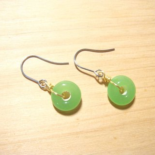 Grapefruit Forest Handmade Glass - Jade Green - Donut Shape - (Free of price change)