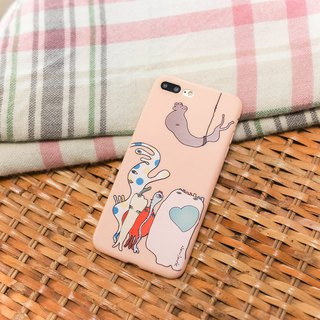 iPhone 6 / 6s (4.7吋) petty bas-relief protection back cover rose powder